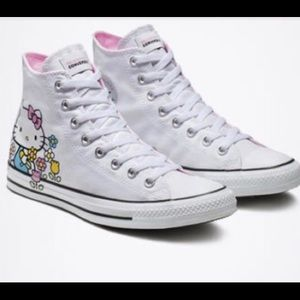 Hello Kitty white Chuck Taylors NWT